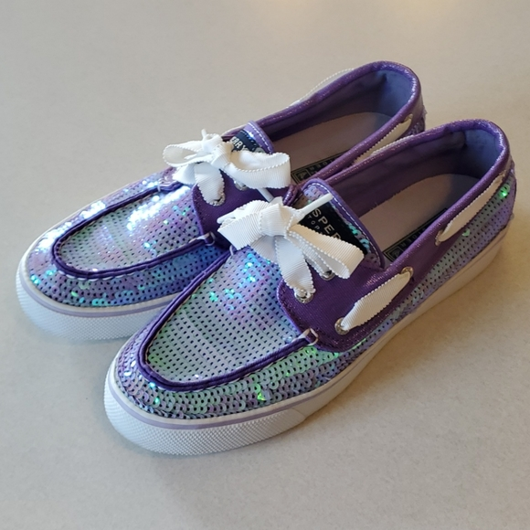 Woman's Purple Sperry Top Slider Size 7M